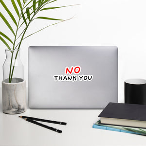 No Thank You | Bubble-free stickers-stickers-5.5x5.5-Eggenland