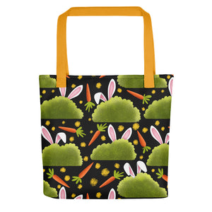 Rabbits and Carrots | Tote Bag-tote bags-Yellow-Eggenland