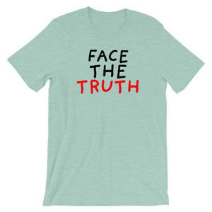 Face the Truth | Short-Sleeve Unisex T-Shirt-t-shirts-Heather Prism Dusty Blue-S-Eggenland