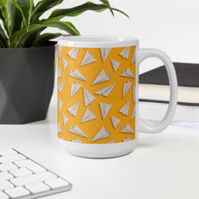 Load image into Gallery viewer, Paper Planes Pattern | Yellow | Mug-mugs-Eggenland
