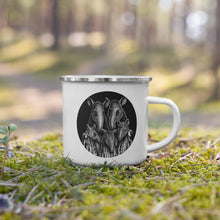 Load image into Gallery viewer, Tapir Family | Illustration | Enamel Mug-enamel mugs-Eggenland