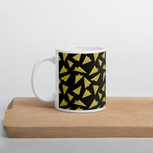 Load image into Gallery viewer, Paper Planes Pattern | Dark Yellow | Mug-mugs-11oz-Eggenland