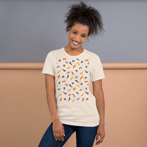 Funky Cats Pattern | Short-Sleeve Unisex T-Shirt-t-shirts-Eggenland