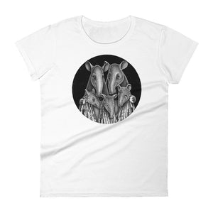 Tapir Family | Women's Short-Sleeve T-Shirt-t-shirts-White-S-Eggenland