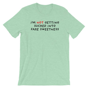 No Fake Sweetness | Short-Sleeve Unisex T-Shirt-t-shirts-Heather Prism Mint-S-Eggenland