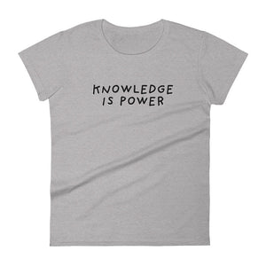 Knowledge is Power | Women's Short Sleeve T-Shirt-t-shirts-Heather Grey-S-Eggenland
