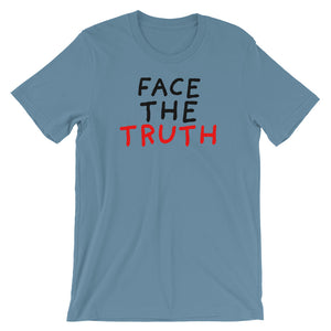 Face the Truth | Short-Sleeve Unisex T-Shirt-t-shirts-Steel Blue-S-Eggenland