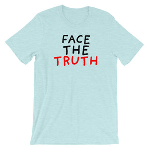 Face the Truth | Short-Sleeve Unisex T-Shirt-t-shirts-Heather Prism Ice Blue-S-Eggenland