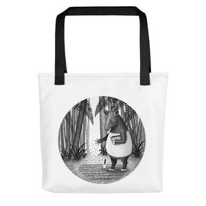 Tapirs Are Gardeners of Forest | Tote Bag-tote bags-Black-Eggenland