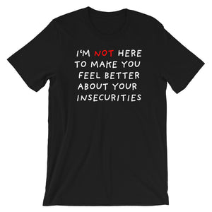 Insecurities | Short-Sleeve Unisex T-Shirt-t-shirts-Black-S-Eggenland