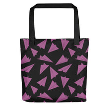 Load image into Gallery viewer, Paper Planes Pattern | Black and Pink | Tote Bag-tote bags-Black-Eggenland