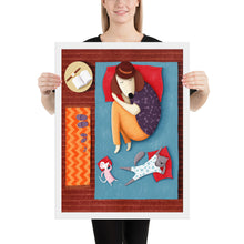 Load image into Gallery viewer, Good Night Sleep Tight | Illustration | Framed Posters-framed posters-White-18×24-Eggenland