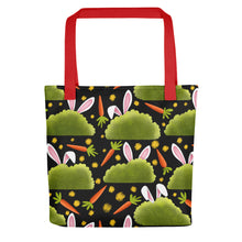 Load image into Gallery viewer, Rabbits and Carrots | Tote Bag-tote bags-Red-Eggenland