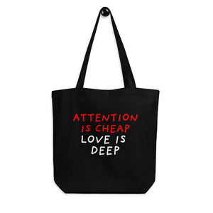 Attention Is Cheap | Eco Tote Bag-tote bags-Eggenland