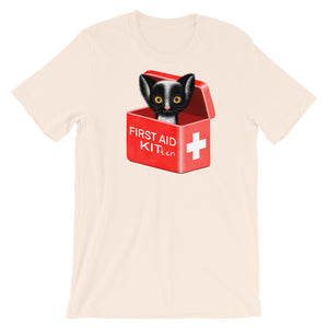 First Aid Kitten | Short-Sleeve Unisex T-Shirt-t-shirts-Soft Cream-S-Eggenland