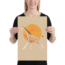 Load image into Gallery viewer, Giraffe and Sun | Cream | Poster-posters-12×18-Eggenland