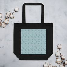 Load image into Gallery viewer, Flying Birds Pattern | Blue | Eco Tote Bag-tote bags-Black-Eggenland