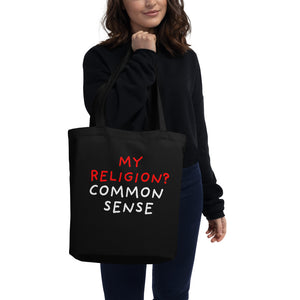 Common Sense | Eco Tote Bag-tote bags-Eggenland