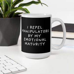 Emotional Maturity | Black | Mug-mugs-Eggenland