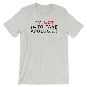 Fake Apologies | Short-Sleeve Unisex T-Shirt-t-shirts-Athletic Heather-S-Eggenland
