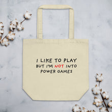 Load image into Gallery viewer, Power Games | Eco Tote Bag-tote bags-Oyster-Eggenland