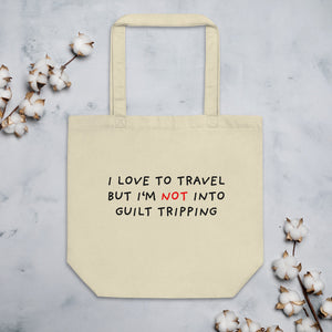 No Guilt Tripping | Eco Tote Bag-tote bags-Oyster-Eggenland
