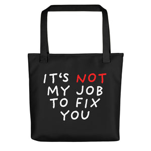 Not My Job | Black | Tote Bag-tote bags-Black-Eggenland