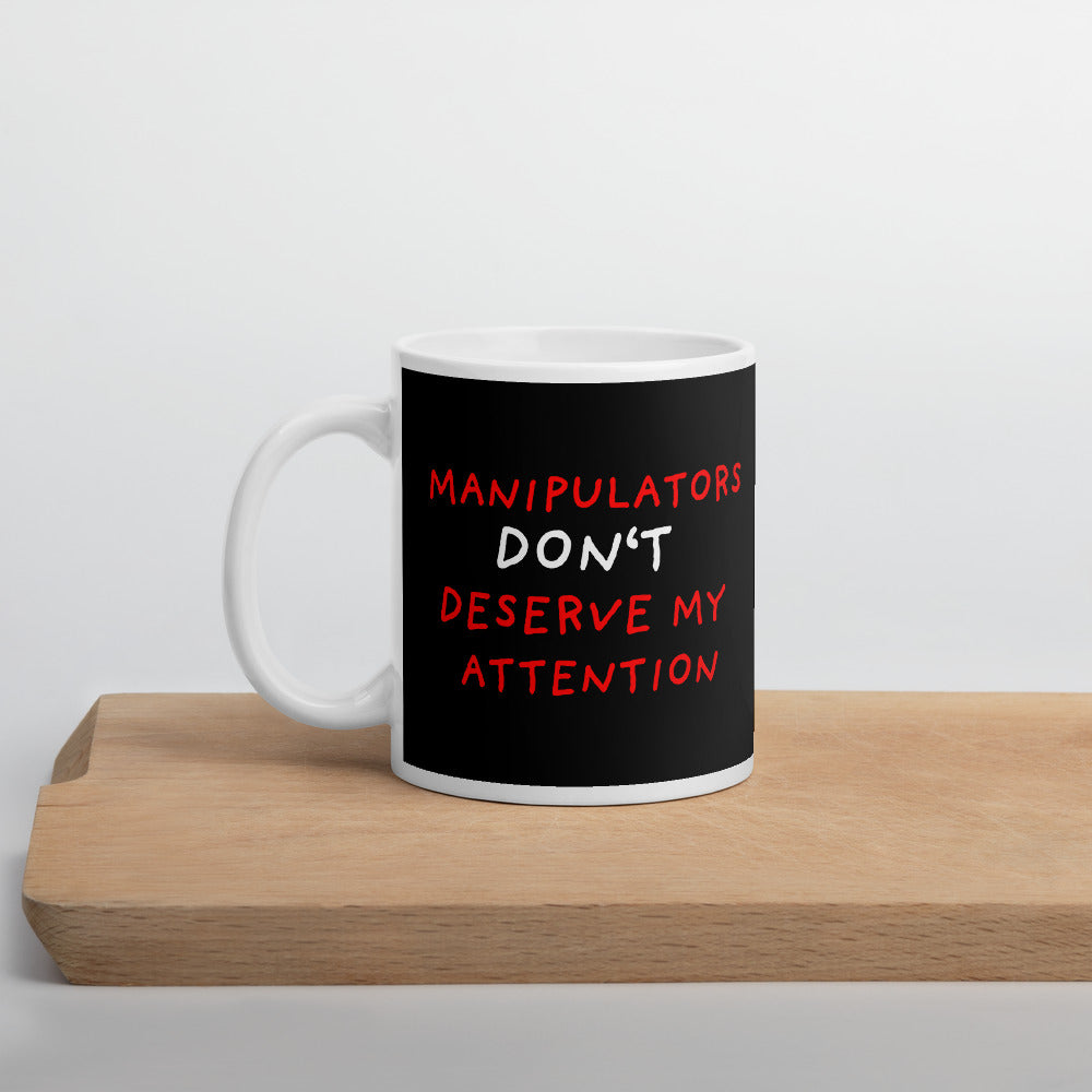 No Attention To Manipulators | Black | Mug-mugs-11oz-Eggenland
