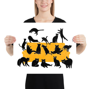 Black Cats Party | Illustration | Poster-posters-16×20-Eggenland