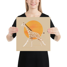 Load image into Gallery viewer, Giraffe and Sun | Cream | Poster-posters-14×14-Eggenland