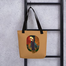 Load image into Gallery viewer, Deer Creature at Night | Light Brown | Tote Bag-tote bags-Eggenland