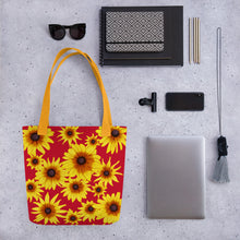 Load image into Gallery viewer, Blooming Flowers | Red | Tote Bag-tote bags-Eggenland