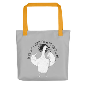 "Duck singing ""Killing in the Name"" 