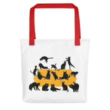 Load image into Gallery viewer, Black Cats Party | Tote Bag-tote bags-Red-Eggenland