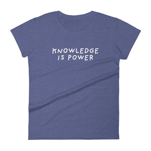 Knowledge is Power | Women's Short Sleeve T-Shirt-t-shirts-Heather Blue-S-Eggenland