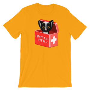 First Aid Kitten | Short-Sleeve Unisex T-Shirt-t-shirts-Gold-S-Eggenland