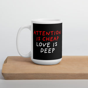 Attention Is Cheap | Black | Mug-mugs-15oz-Eggenland