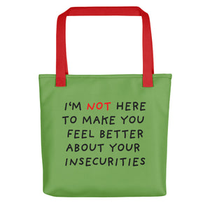 Insecurities | Green | Tote Bag-tote bags-Red-Eggenland