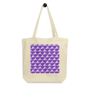 Newspaper Hats Pattern | Violet | Eco Tote Bag-tote bags-Eggenland