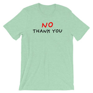 No Thank You | Short-Sleeve Unisex T-Shirt-t-shirts-Heather Prism Mint-S-Eggenland