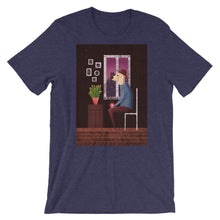 Load image into Gallery viewer, Charlie Waiting For Love | Short-Sleeve Unisex T-Shirt-t-shirts-Heather Midnight Navy-S-Eggenland