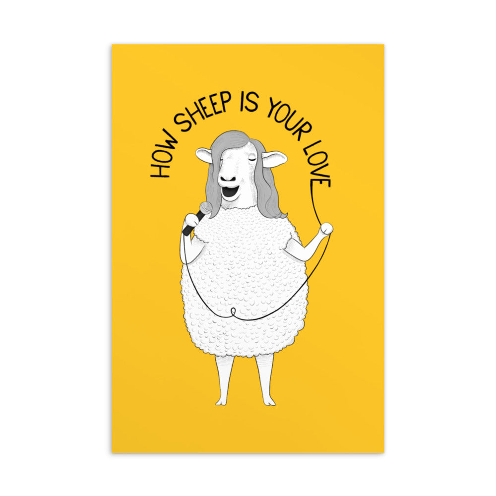 How Sheep Is Your Love | Yellow | Postcard