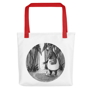 Tapirs Are Gardeners of Forest | Tote Bag-tote bags-Red-Eggenland
