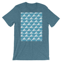 Load image into Gallery viewer, Paper Hats Pattern | Blue | Short-Sleeve Unisex T-Shirt-t-shirts-Heather Deep Teal-S-Eggenland