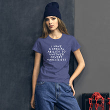 Load image into Gallery viewer, Special Ability | Women's Short Sleeve T-Shirt-t-shirts-Heather Blue-S-Eggenland