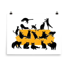 Load image into Gallery viewer, Black Cats Party | Illustration | Poster-posters-Eggenland
