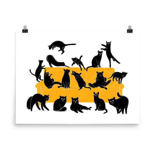 Black Cats Party | Illustration | Poster-posters-Eggenland