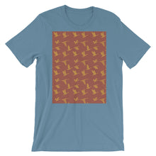 Load image into Gallery viewer, Flying Birds Pattern | Red | Short-Sleeve Unisex T-Shirt-t-shirts-Steel Blue-S-Eggenland