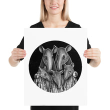 Load image into Gallery viewer, Tapir Family | Illustration | Poster-posters-16×20-Eggenland