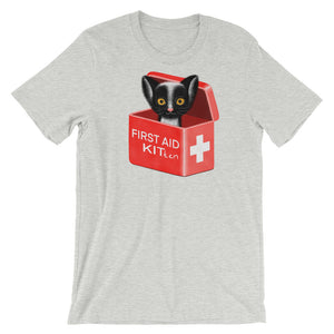 First Aid Kitten | Short-Sleeve Unisex T-Shirt-t-shirts-Athletic Heather-S-Eggenland
